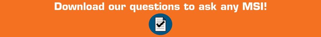 questions to ask any master systems integrator msi